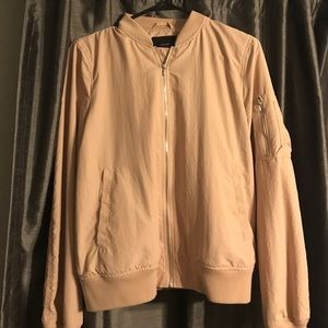Zara Basic Light Pink Bomber Jacket